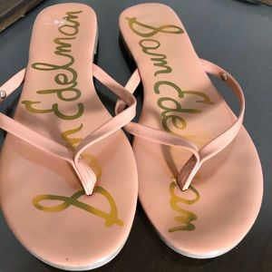 Sam Edelman peach flip flop sandals EUC 7.5 summer